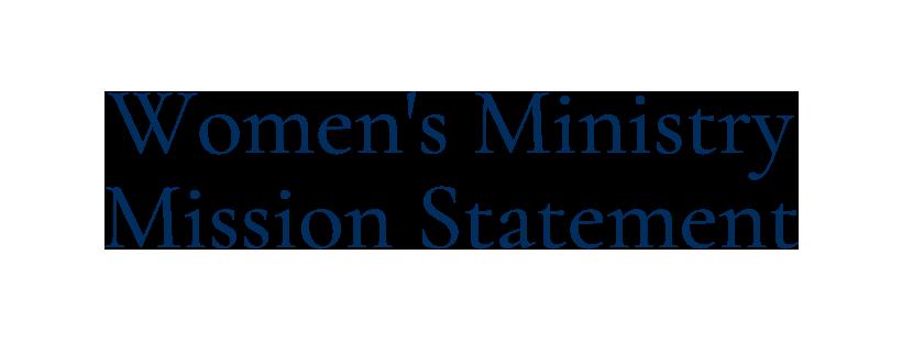 2020-1030 womens mission statement